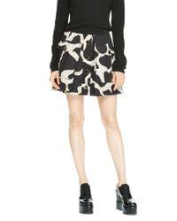 DKNY - Black Silk Quilted Mini Skirt - Lyst
