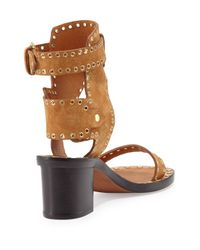 Isabel Marant - Orange Jaeryn Suede Sandals - Lyst