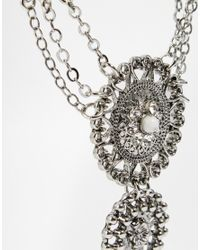 ALDO - Metallic Glayrien Hand Chain - Lyst