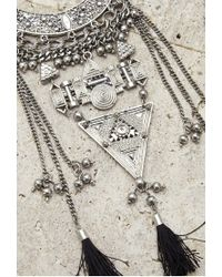 Forever 21 | Metallic Longline Geo Statement Necklace | Lyst