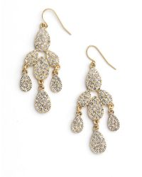 ABS By Allen Schwartz | Metallic Chandelier Earrings | Lyst