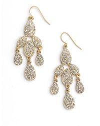 ABS By Allen Schwartz | Metallic Chandelier Earrings | Lyst