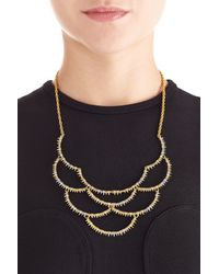 Alexis Bittar - Metallic Crystal Embellished Gold-plated Bib Necklace - Lyst