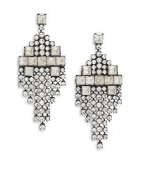 DANNIJO | Metallic Klein Crystal Kite Fringe Earrings | Lyst