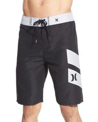 Hurley | Black 'icon Slash' Recycled Fabric Board Shorts for Men | Lyst