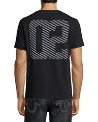 True Religion - Black Linear Logo-graphic Short-sleeve T-shirt for Men - Lyst