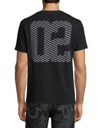 True Religion - Black Linear Logo-graphic Short-sleeve T-shirt for Men - Lyst