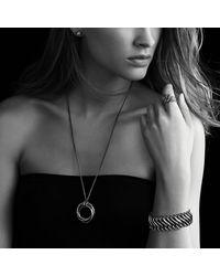 David Yurman | Metallic Cerise Petite Earrings With Black Diamonds | Lyst
