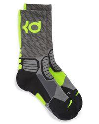 Nike - Gray 'hyper Elite' Cushioned Crew Socks - Lyst