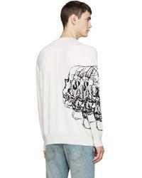 Alexander McQueen - White Ivory Knit Best Skulls Sweater for Men - Lyst