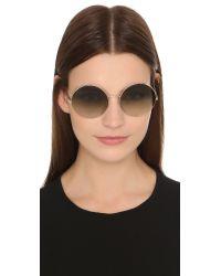 Victoria Beckham   Metallic Supra Round Sunglasses   Lyst