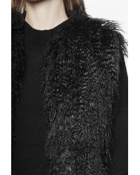 French Connection - Black Chicago Faux Fur Gilet - Lyst