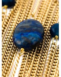 Rosantica - Blue Bead And Chain Cascade Necklace - Lyst