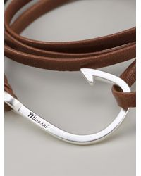 Miansai - Brown Large Hook Bracelet - Lyst