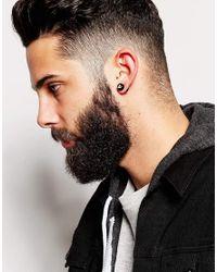 ASOS - Black Geo-tribal Plug Earrings for Men - Lyst