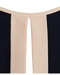 Paul Smith | Blue Navy Silk Top With Blush Trim | Lyst