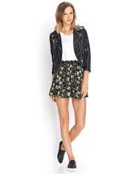 Forever 21 - Pink Floral Print Skater Skirt - Lyst