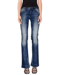 Manila Grace | Blue Denim Trousers | Lyst