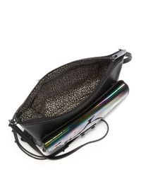 Loeffler Randall - Black Double Pouch Iridescent Leather Crossbody Bag - Lyst