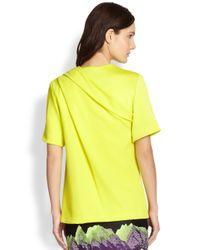 Alexander Wang - Yellow Draped T-Shirt - Lyst