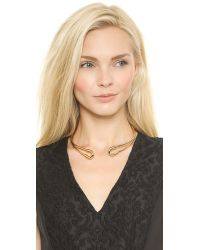 Giles & Brother - Metallic Cortina Collar Necklace - Gold - Lyst