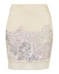 TOPSHOP - Natural Mineral Satin Pelmet Skirt - Lyst