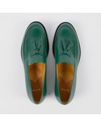 e2047840b7a Lyst - Paul Smith Stevenson Tasseled Saffiano-Leather Loafers in Green