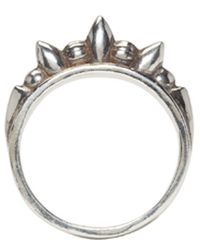 Pamela Love - Metallic Silver Spike Ring - Lyst