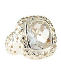 Slane | Metallic Basket Woven Ring | Lyst