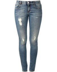 Stella McCartney - Blue Skinny Jeans - Lyst