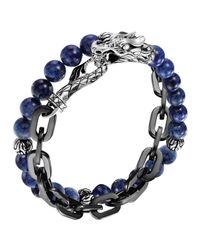 John Hardy | Blue Naga Lapis & Chain Wrap Bracelet | Lyst