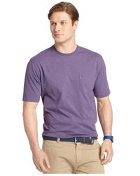 Izod | Purple Jersey Crew-neck T-shirt for Men | Lyst