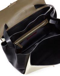 Valentino - Green Tricolor Calfskin Satchel Bag - Lyst