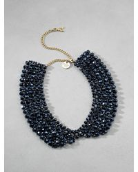 Patrizia Pepe | Blue Collar-Effect Necklace In Brass And Glass | Lyst
