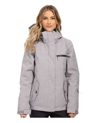 Roxy | Gray Jetty Solid Snow Jacket | Lyst