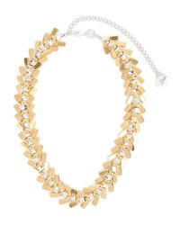 Alice Menter | Metallic Anya Sterling Silver And Gold Tone Necklace | Lyst