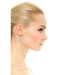 Kenneth Jay Lane | White Pear Wing & Stud Earrings | Lyst