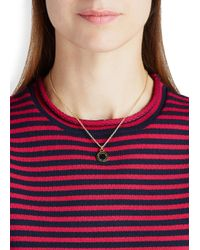Marc By Marc Jacobs - Logo Disc-o Black Enamel Necklace - Lyst