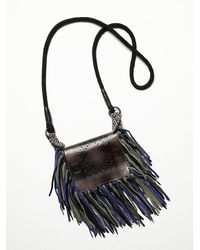 Free People | Black Bardot Fringe Mini Bucket | Lyst