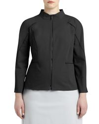 Lafayette 148 New York - Black Marty Two-zip-front Jacket - Lyst