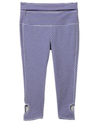 Alternative Apparel | Purple Pull Up Printed Stretch Leggings | Lyst