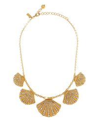 kate spade new york - Metallic Shore Thing Clam Collar Necklace - Lyst