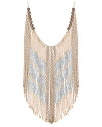 Lucky Brand - Metallic Gold-tone Beaded Statement Necklace - Lyst
