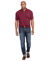 Polo Ralph Lauren | Purple Big And Tall Custom-fit Striped Mesh Polo Shirt for Men | Lyst