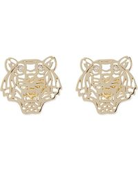 KENZO | Metallic Tiger Head Earrings | Lyst