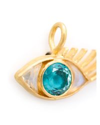 Marie-hélène De Taillac - Blue 22kt Gold Moonstone Eye Pendant - Lyst
