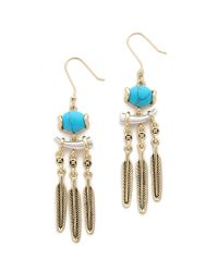 House of Harlow 1960 | Metallic Ankolie Earrings - Silver/turquoise | Lyst