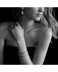 David Yurman - Cable Wrap Doubledrop Earrings with Black Onyx and Diamonds - Lyst