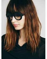 Free People - Black Olsen Ombre Sunglass - Lyst
