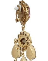 Dolce & Gabbana | Metallic Escape Clip-on Embellished Earrings | Lyst